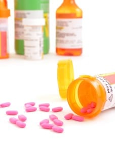Accutane Pill Bottle Stock Photo