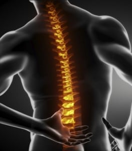Back and Spinal Injury Stock Photo