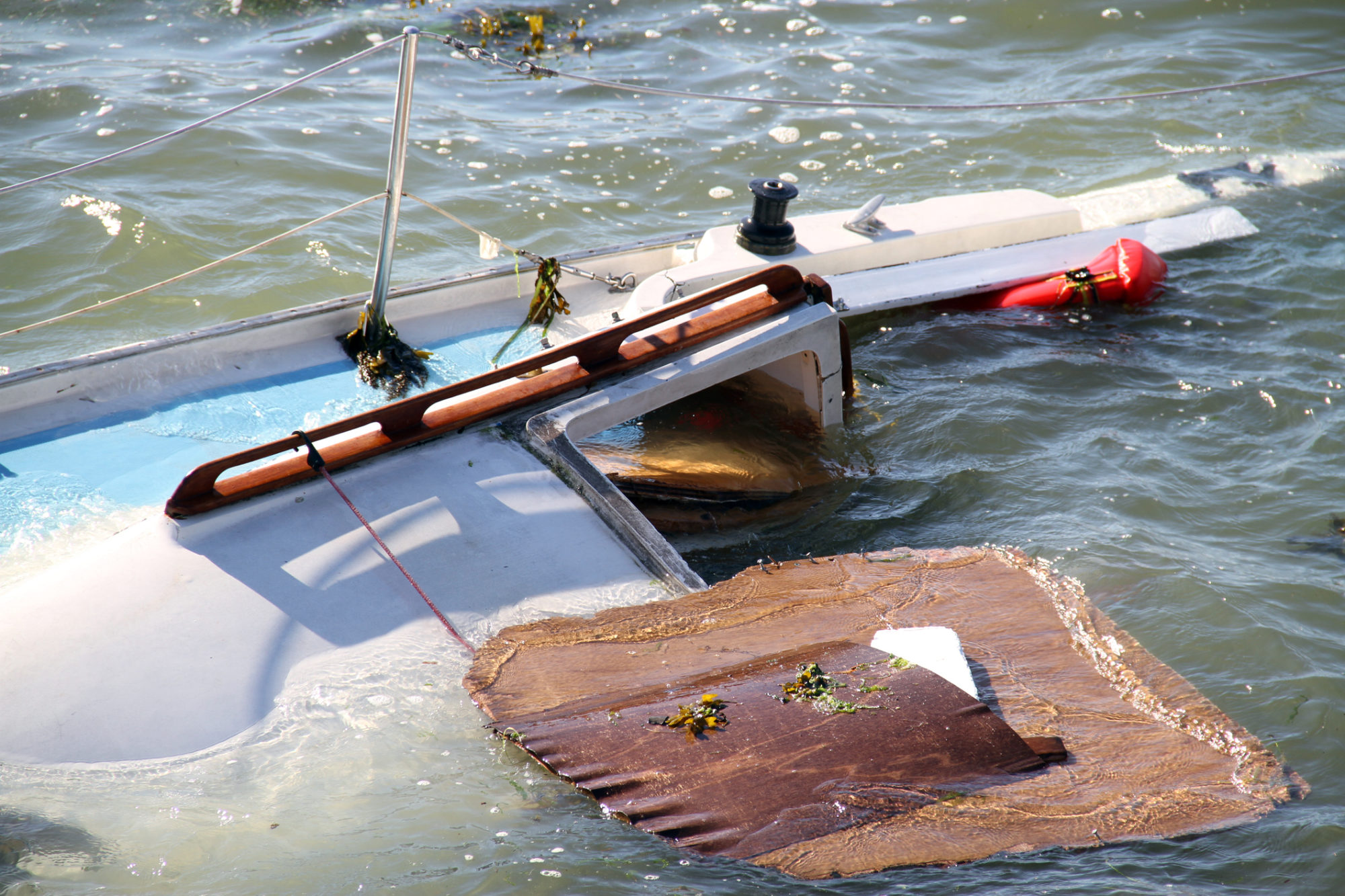 Aftermath of a Boating Accident Stock Photo