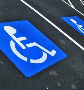 Handicapped Parking Space Stock Photo