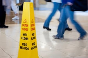 Caution Wet Floor Cone Stock Photo