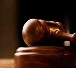 Legal ruling gavel
