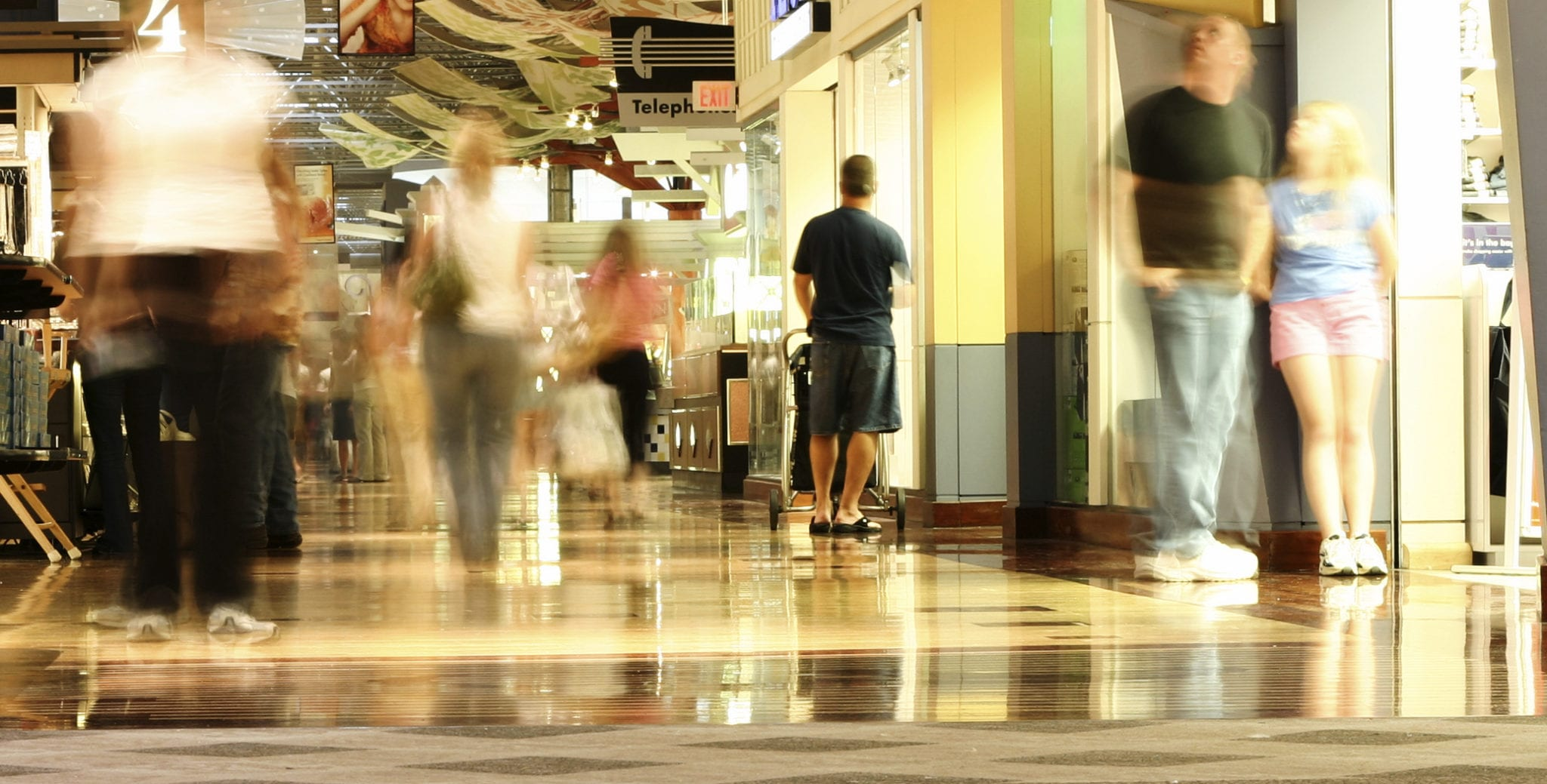 Shopping-mall-motion-blur