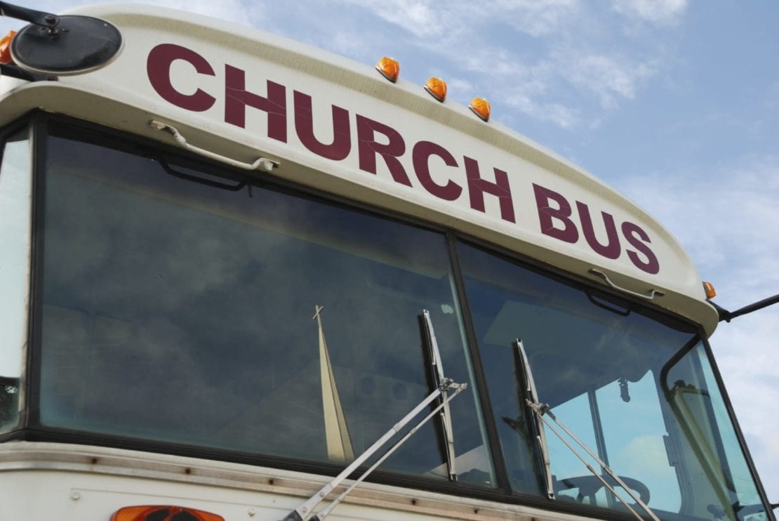 Church Bus Stock Photo