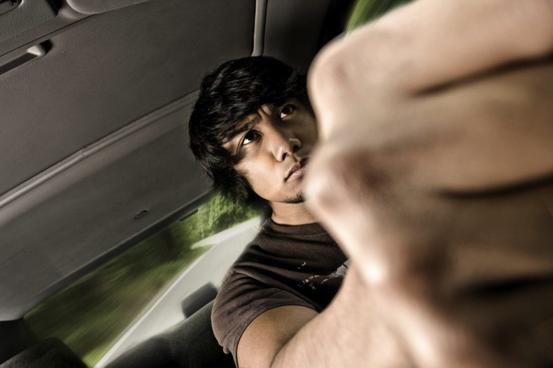 Angry Male Driver Stock Photo