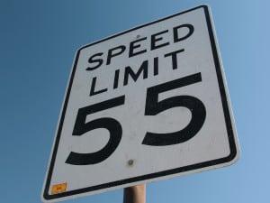 Speed Limit 55 Sign Stock Photo