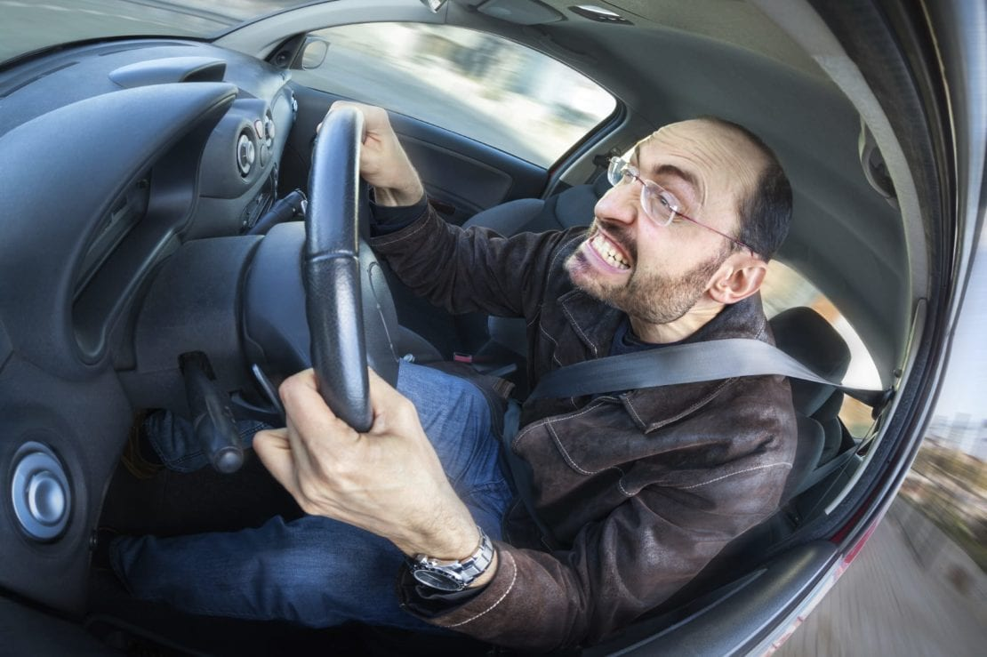 Aggressive Driver Stock Photo