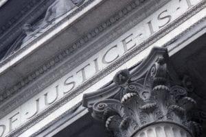 Large Courthouse Pillar Stock Photo