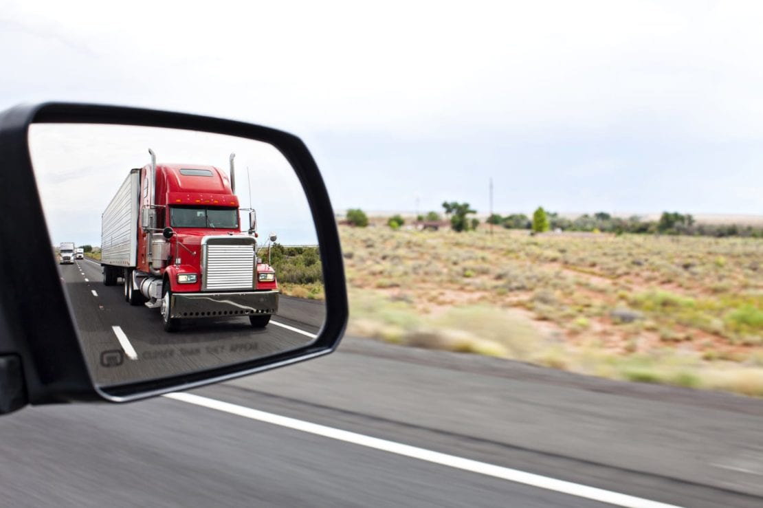 rearview semi-truck