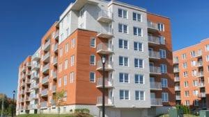 Large Apartment Complex Exterior Photo