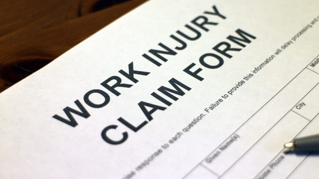 Blank Work Injury Claim Form Stock Photo