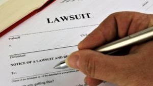 Lawsuit Paperwork Stock Photo