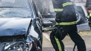 Severe Car Accident Stock Photo