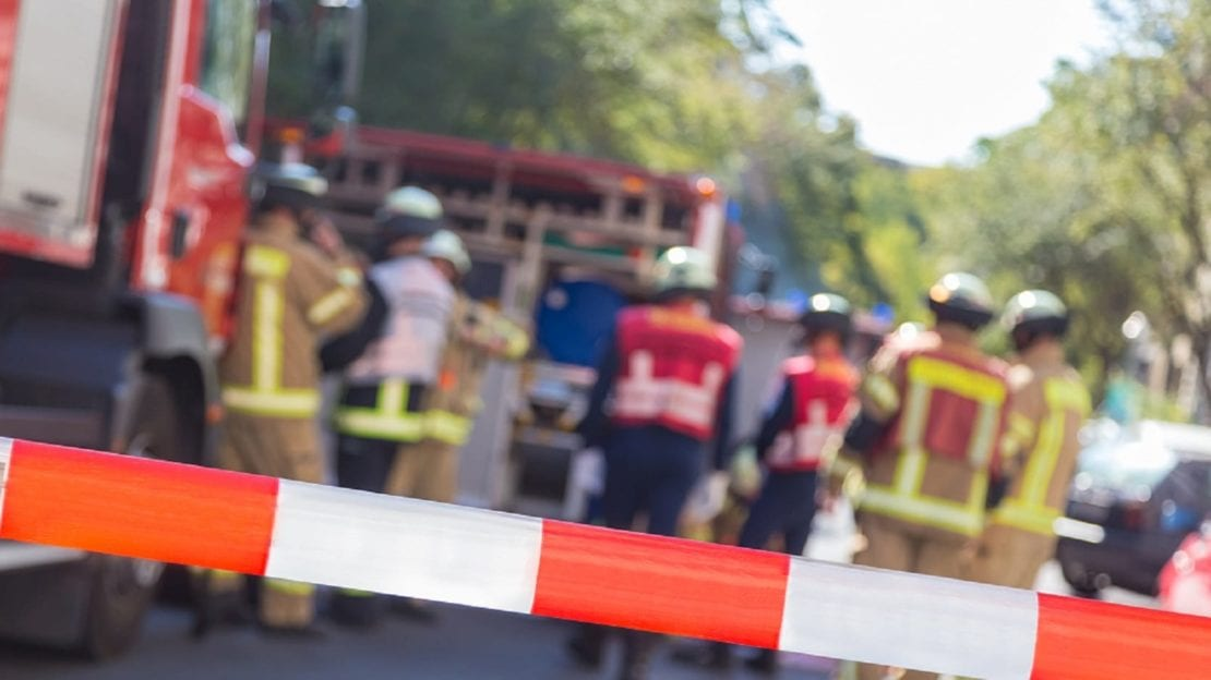 First Responders At Accident Scene