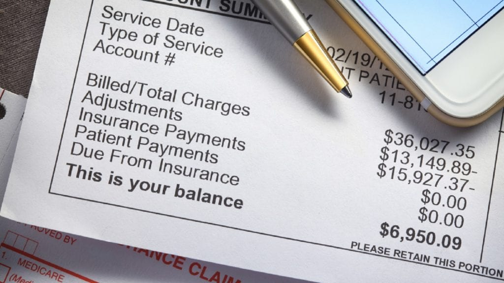 Insurance Billing Statement Stock Photo