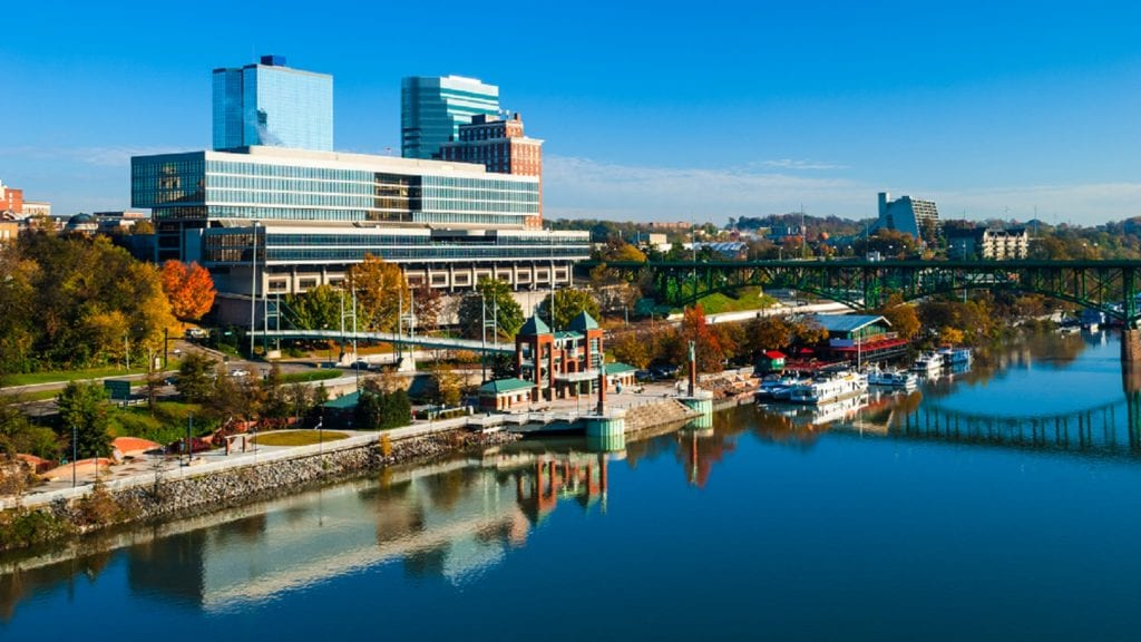Downtown Knoxville, Tennessee Skyline Stock Photo