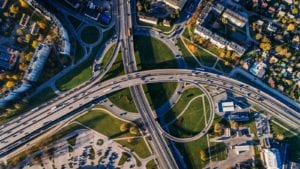 Busy Highway Aerial Photo
