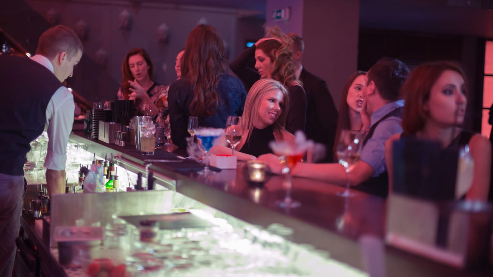 Busy Night Club / Bar Stock Photo