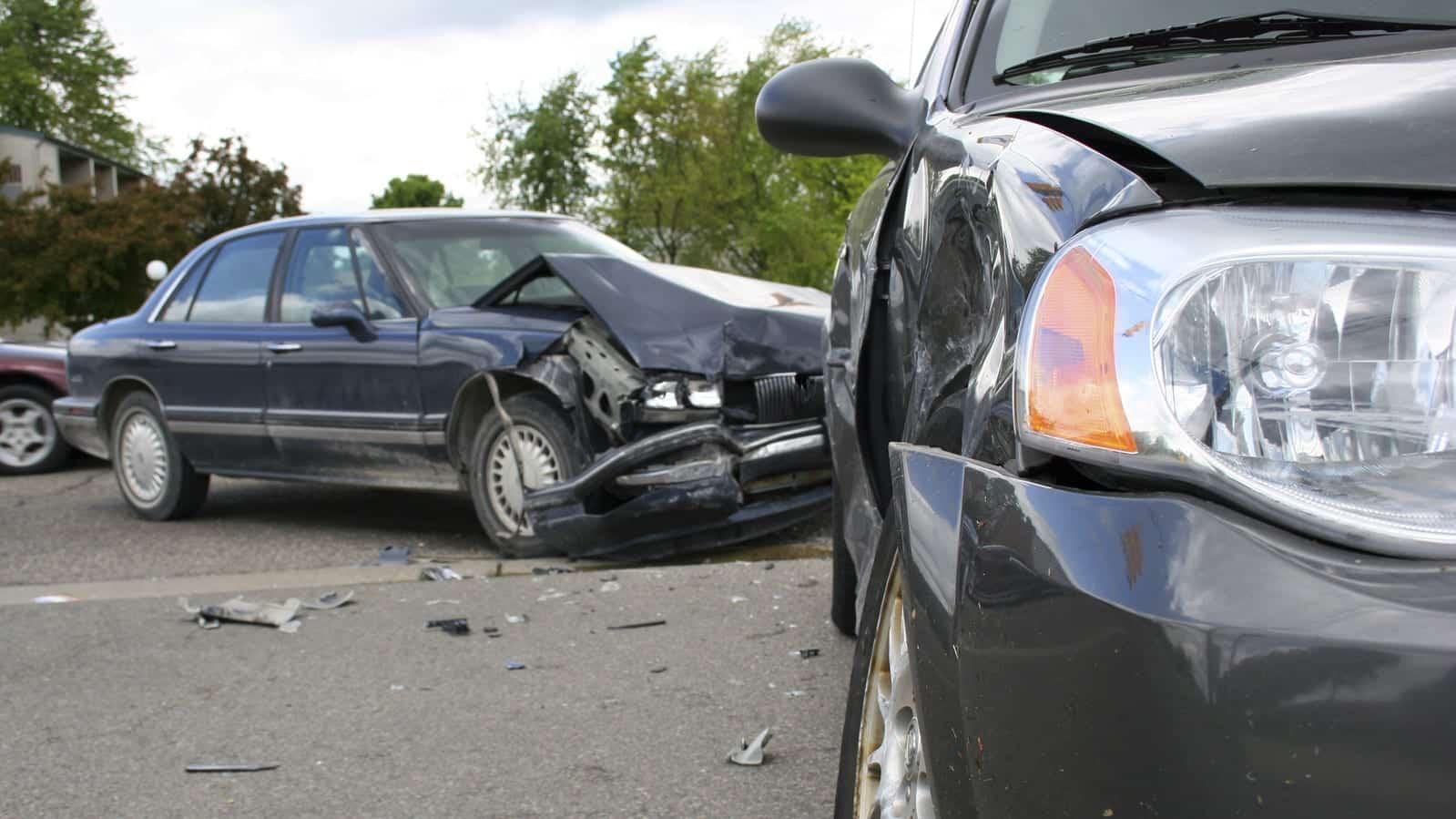 Side Impact Auto Accident Stock Photo