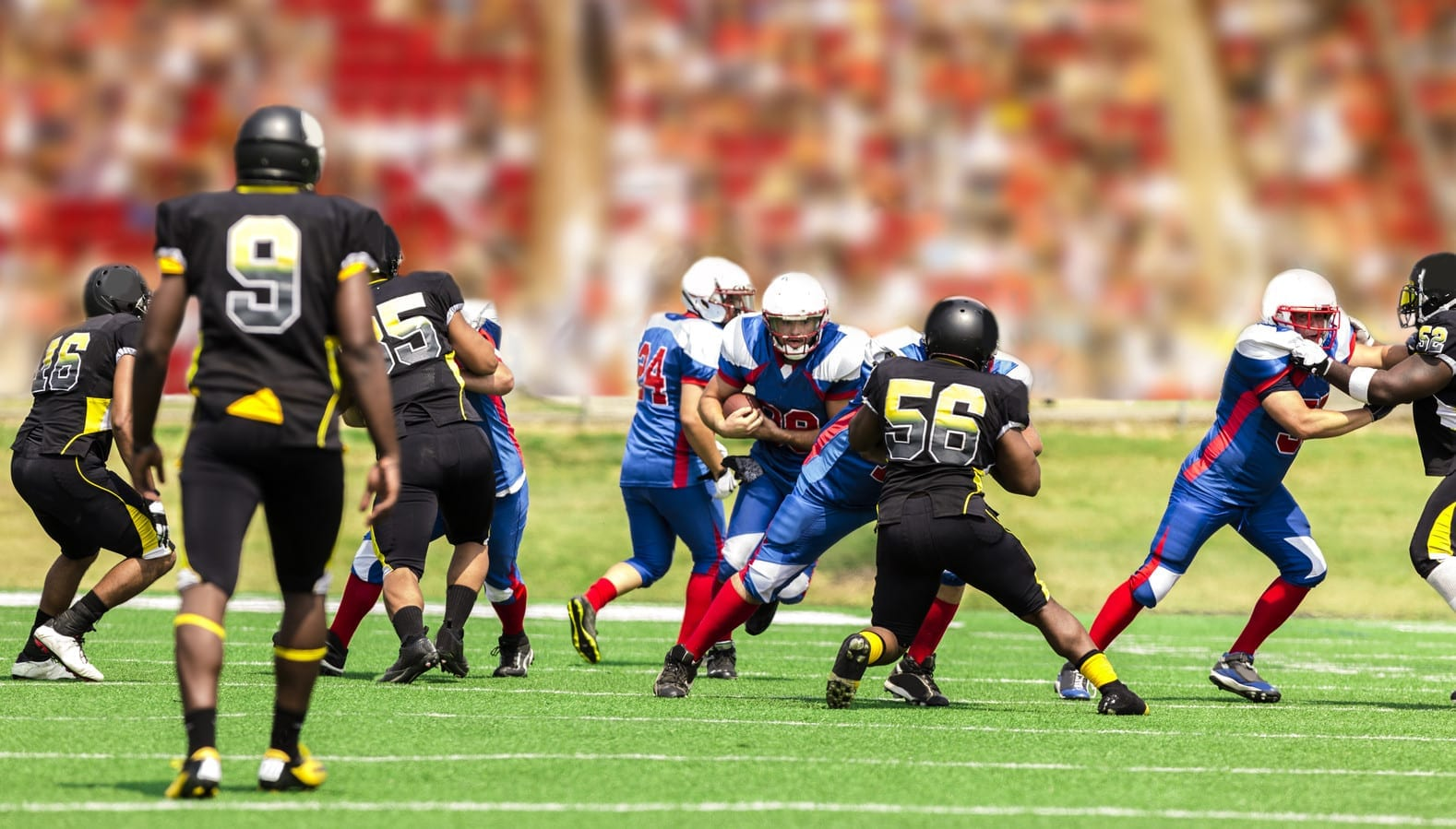 High School Football Game Stock Photo