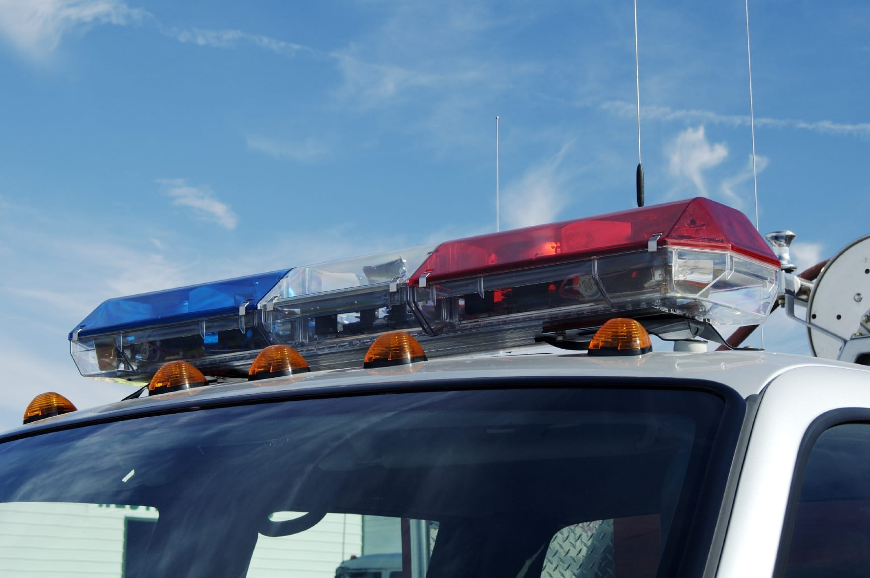 Parked Police Squad Car Stock Photo