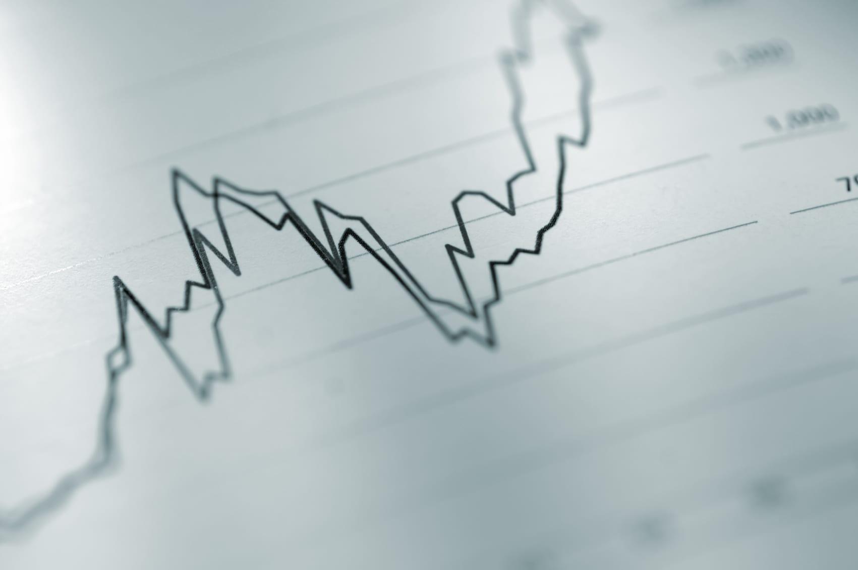 Upward Trend On Chart Stock Photo