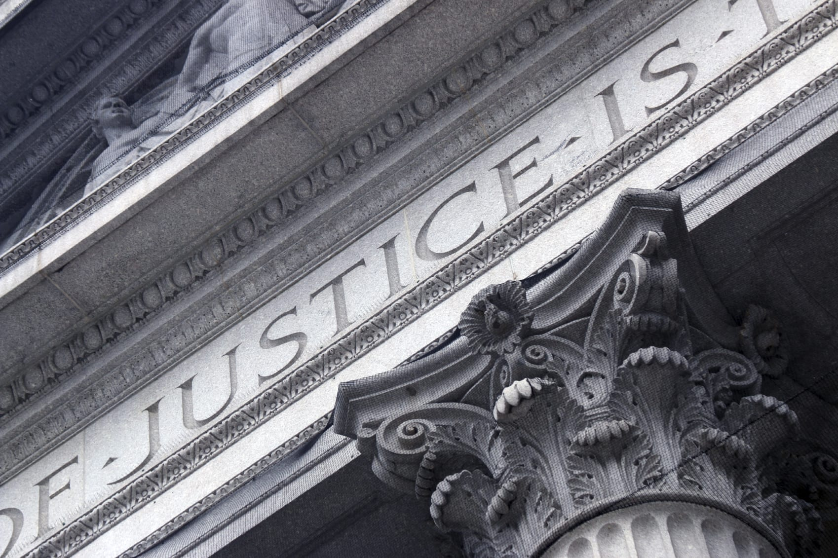 Large Courthouse Pillar Stock Photo