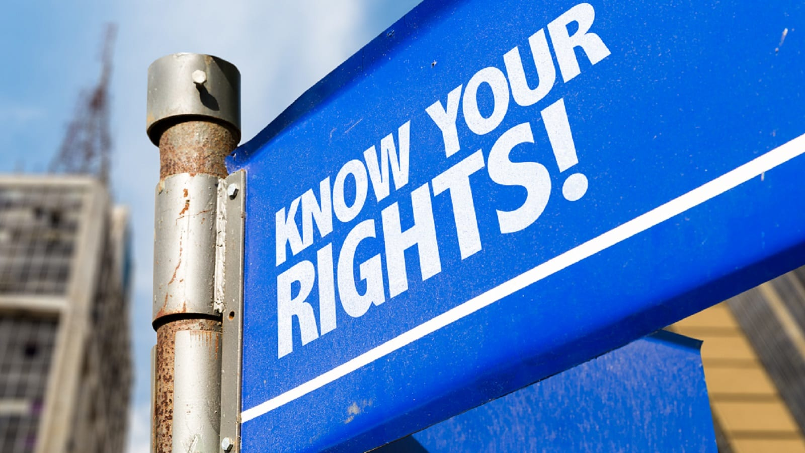 Know Your Rights Sign Stock Photo